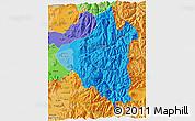Political Shades 3D Map of CORDILLERA