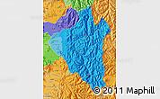 Political Shades Map of CORDILLERA