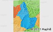 Political Shades 3D Map of EL LOA