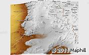 Physical Panoramic Map of Calama