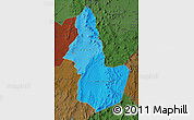 Political Shades Map of EL LOA, darken
