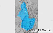 Political Shades Map of EL LOA, desaturated