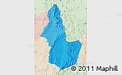 Political Shades Map of EL LOA, lighten