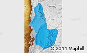 Political Shades Map of EL LOA, physical outside