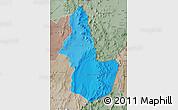 Political Shades Map of EL LOA, semi-desaturated
