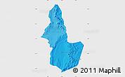 Political Shades Map of EL LOA, single color outside
