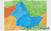 Political Shades Panoramic Map of EL LOA