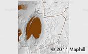 Physical 3D Map of San Pedro de Atacama