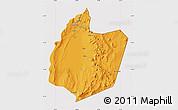 Political Map of San Pedro de Atacama, cropped outside
