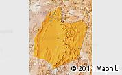 Political Map of San Pedro de Atacama, satellite outside