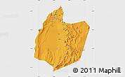 Political Map of San Pedro de Atacama, single color outside