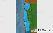 Political Map of Iquique, darken