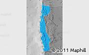 Political Map of Iquique, desaturated
