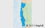 Political Map of Iquique, lighten