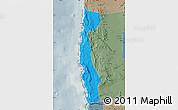 Political Map of Iquique, semi-desaturated