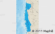 Political Map of Iquique, shaded relief outside