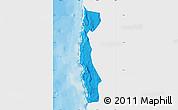 Political Map of Iquique, single color outside