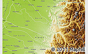 Physical Map of Parral