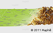 Physical Panoramic Map of Parral