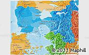 Political Shades 3D Map of LLANQUIHUE