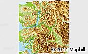 Physical 3D Map of Cochamo