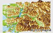 Physical Panoramic Map of Cochamo