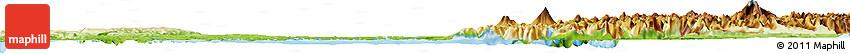 Physical Horizon Map of LLANQUIHUE