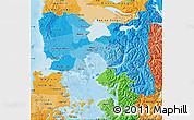Political Shades Map of LLANQUIHUE