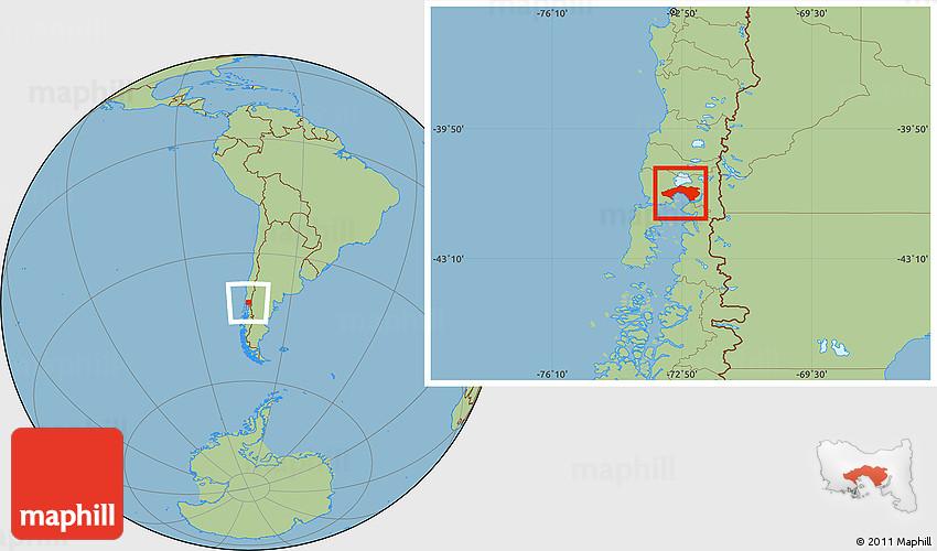 puerto montt chile map Savanna Style Location Map Of Puerto Montt puerto montt chile map