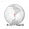 Outline Map of Puerto Montt