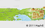 Physical Panoramic Map of Puerto Montt