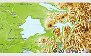 Physical Map of Puerto Varas