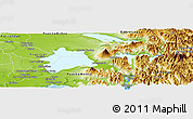 Physical Panoramic Map of Puerto Varas