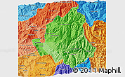 Political Shades 3D Map of LOS ANDES