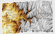 Physical 3D Map of Los Andes