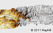 Physical Panoramic Map of Los Andes