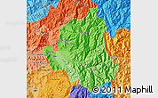 Political Shades Map of LOS ANDES