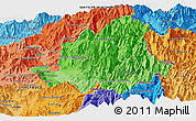 Political Shades Panoramic Map of LOS ANDES