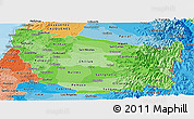 Political Shades Panoramic Map of NUBLE