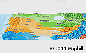 Political Shades Panoramic Map of OSORNO