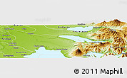 Physical Panoramic Map of Puerto Octay
