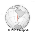 Outline Map of Chile