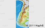 Physical Panoramic Map of Chile