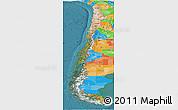 Satellite Panoramic Map of Chile, political outside, satellite sea