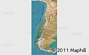 Satellite Panoramic Map of Chile