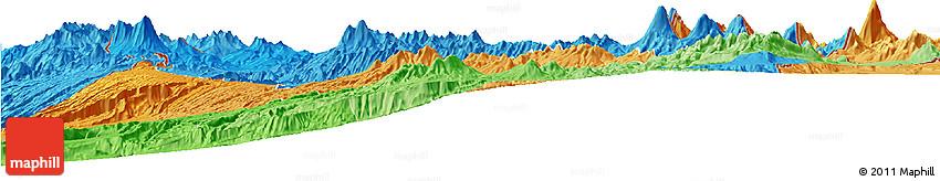 Political Shades Horizon Map of PARINACOTA