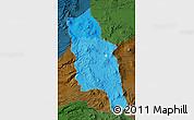 Political Shades Map of PARINACOTA, darken