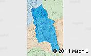 Political Shades Map of PARINACOTA, lighten