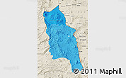 Political Shades Map of PARINACOTA, shaded relief outside