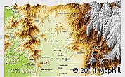 Physical 3D Map of SANTIAGO